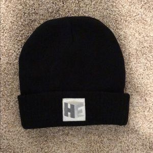 """Accessories - Black beanie with """"HF"""" initials"""